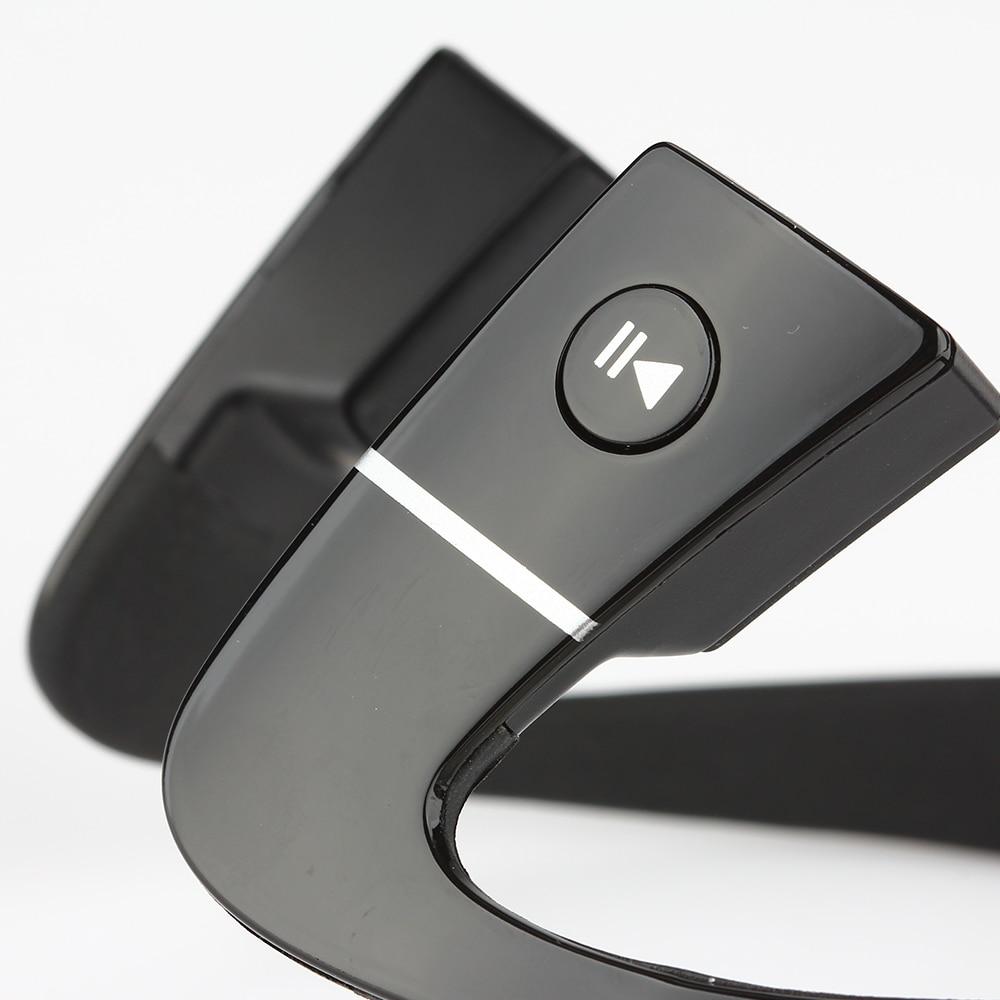 BBGear Bone Conduction Wireless Bluetooth Headset Waterproof Stereo Neck-strap Headphone Sports Earphone with Mic NFC Hands-free