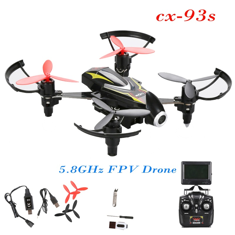 5.8G FPV professional rc drone CX-93S With Camera 1020 powerful motor 6-axis gyro 3D rollover remote control RC Quadcopter gifts mini rc global drone 2 4g 6 axis x183 gyro quadcopter with 2mp wifi fpv hd camera gps brushless mode remote control toys gifts