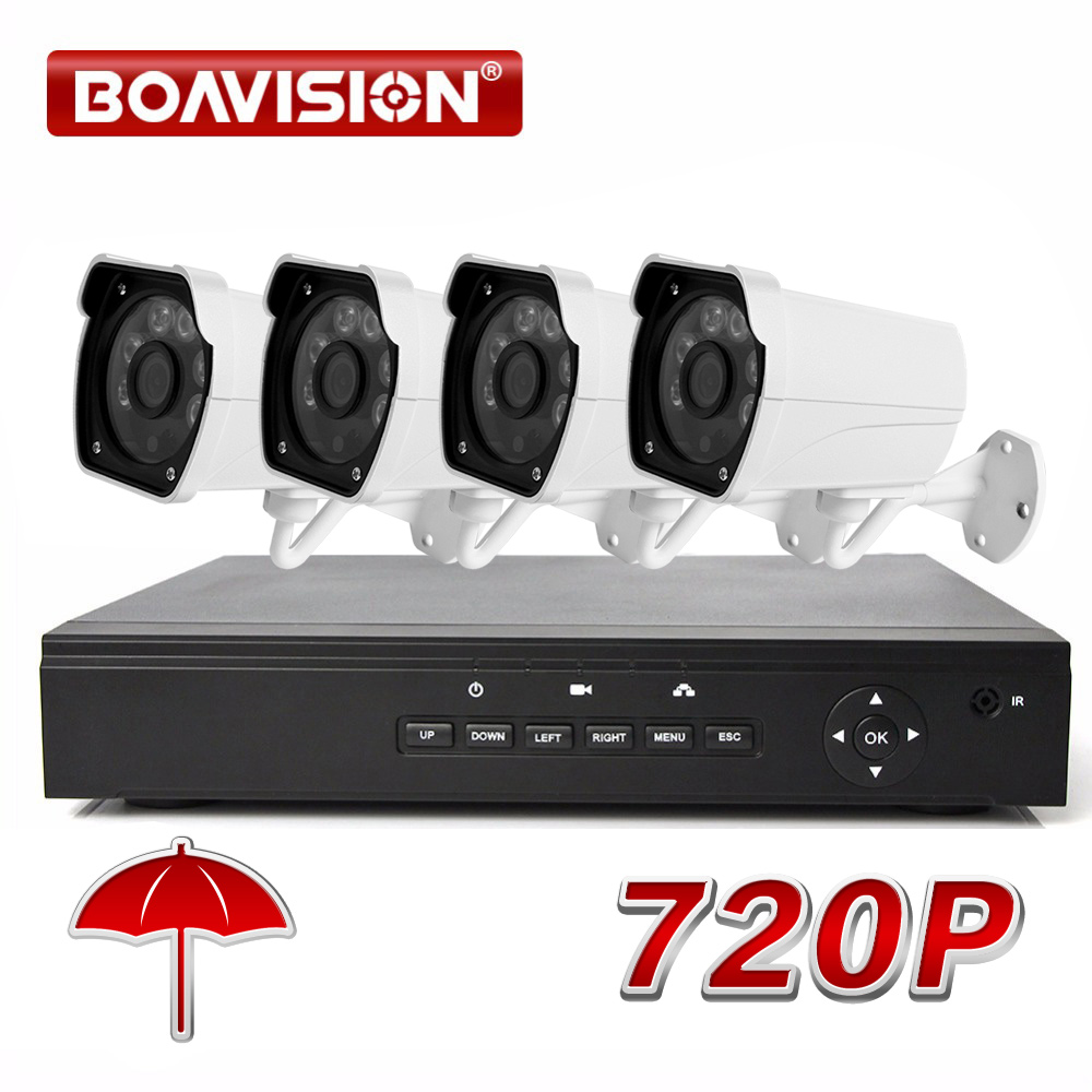 Hotting Full 4CH 720P POE Kit POE NVR With 1.0MP 1200TVL Outdoor PoE IP Camera P2P Cloud Service CCTV System Video Surveillance 2014 sale 4ch onvif full hd 48v real poe 80 100m nvr kits with 720p varifocal 2 8 12mm lens ip cameras p2p cloud service