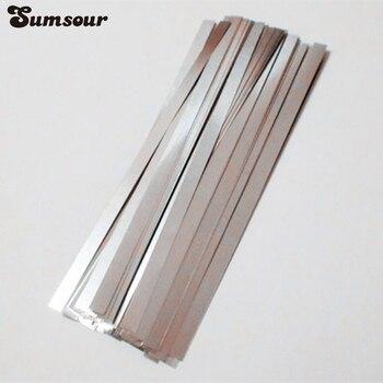 0.1mm x 6mm x 100mm 100pcs Pure Nickel Plate Strap Strip Sheets 99.96% for Battery Spot Welding Machine Welder Equipment C0106 Spot Welders
