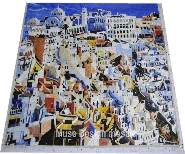 Carta da parati murale con effetto piastrelle zellige murals