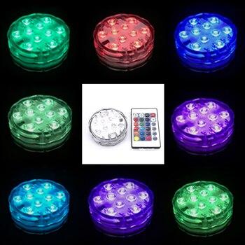 Accesorios de decoración fiesta Narguile Chicha, con Control remoto, RGB, 16 colores, teng0005