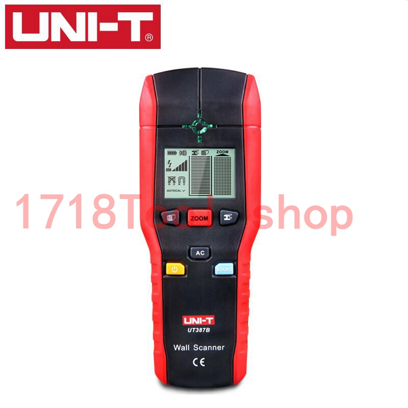 Multifunctional UNI-T UT387B Handheld Wall Detector Metal Wood AC Cable Finder Scanner with High Quality handheld portable metal detector handheld scanner handheld pro pointer for security screening