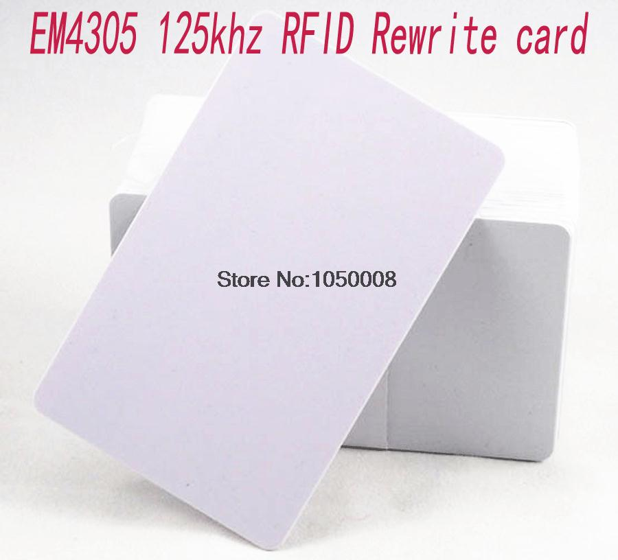 10pcs/lot 125Khz Proximity RFID EM4305 T5577 Smart Card Read And Rewriteable  Access Control