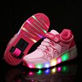 Hot 2016 Child Jazzy Shoes, Junior Girls/Boys LED Light Shoes, Children Roller Skate Shoes, Kids Sneakers With Single Wheels