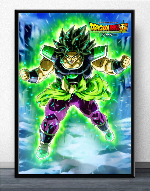 Dragon Ball Super Broly Ultra Instinct Goku Japan Anime Poster Art Picture Printing Silk Canvas Home Room Wall