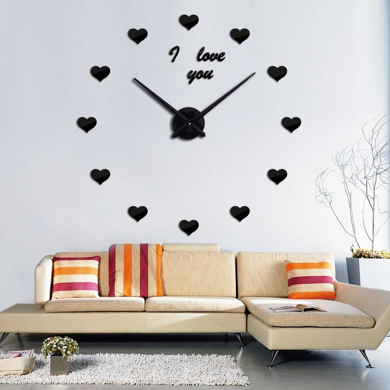 Heminredning mode väggklocka 3d akryl spegel cirkulär dag klockor - Heminredning - Foto 4