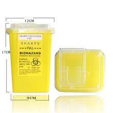 1L Yellow Tattoo Sharps Container Plastic Biohazard Needle Disposal Sharps Containers For Tattoo Artists TA-237-2