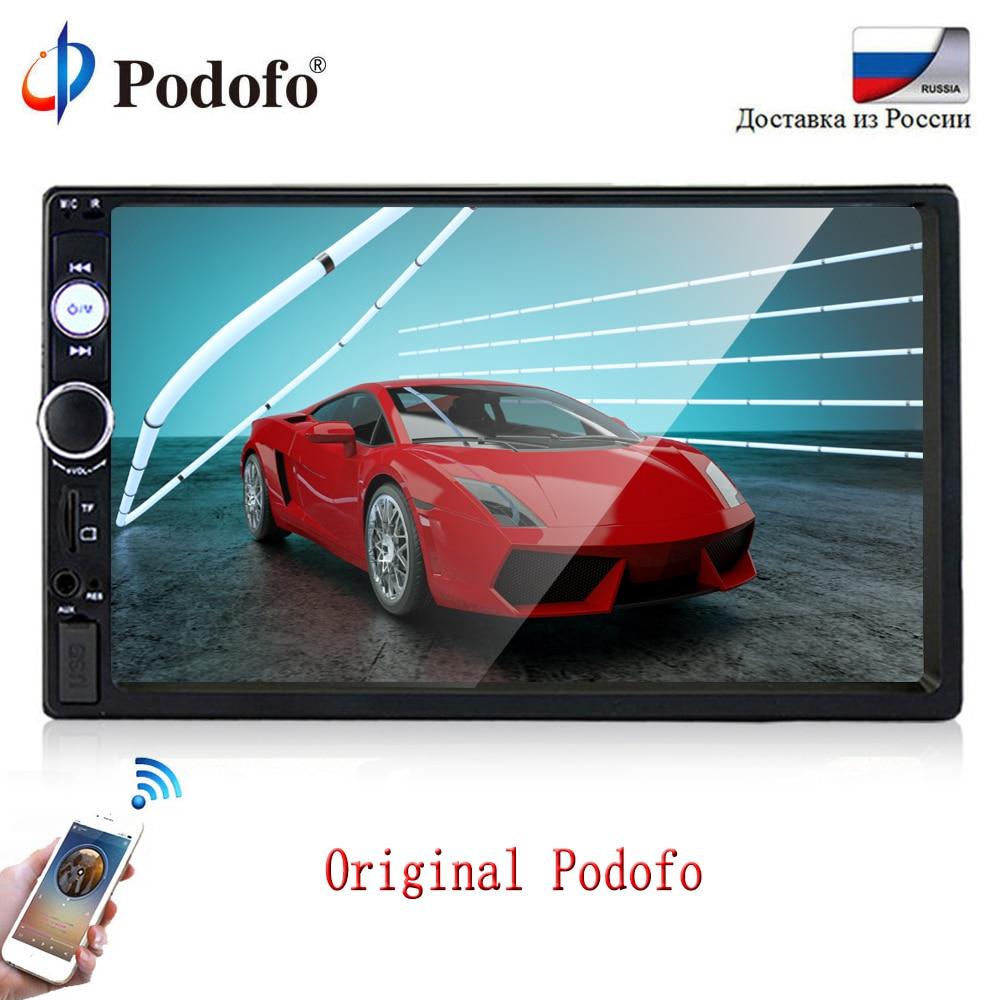 Podofo 2 din Автомагнитолы мультимедийный плеер 2din Авторадио Стерео Универсальный 7 Сенсорный экран Bluetooth видео MP5 плеер Авто радио