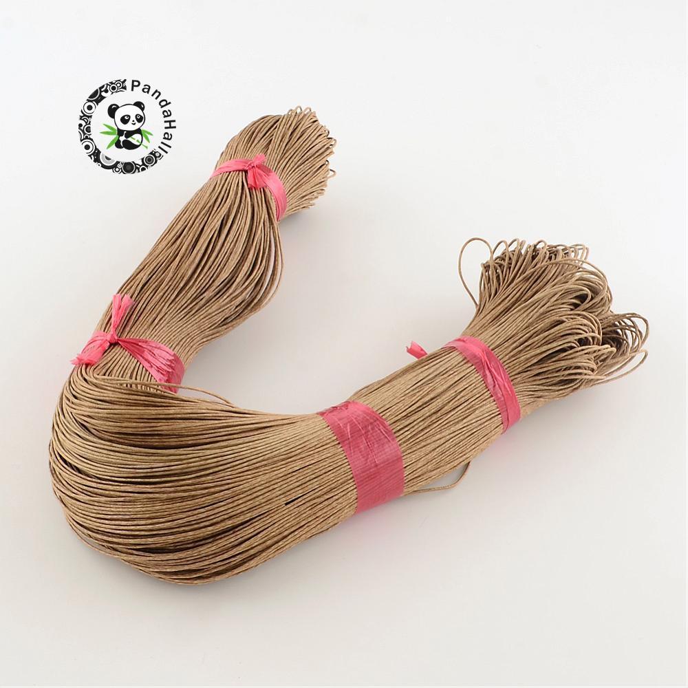 24 colores 1mm al por mayor Cordón de cera de algodón chino para pulsera collar joyería encontrar aproximadamente 400 m/paquete