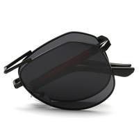 Mens Brand Designer Foldable Folding Pilot Sunglasses Polarized Men Women Fashion Vintage Driving Glasses Eyewear Accessories