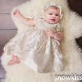 2016 Short Lace Appliques Baby Girls Boys Kid Infant Baptism Robe Blessing Dress Heirloom Gown Christening Gowns