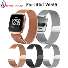 Hero Iand Hot Milanese Stainless Steel Mesh Band Replacement Wristbands Straps Bracelet Watch For Fitbit Versa Smart