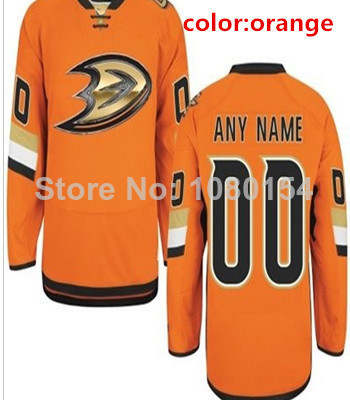 super popular de521 1520b Free Ship Custom Anaheim Ducks Jerseys Black Orange 2014 ...
