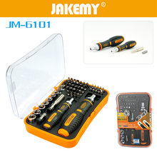 JAKEMAY 53 in 1 Screwdriver Socket Set Screw Driver Head Sleeve Ratchet Handle for Household Appliances Tool Repair Kit karambit stanley 43pcs sets t type multi purpose socket screwdriver sleeve combanation screw driver rt 1643 with