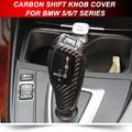 FOR BMW F01 F10 F12 5 6 7 Series F15 Real Carbon Fiber Gear Shift Knob Cut Out Trim
