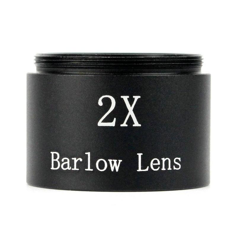 2x Barlow Lens Pure Optical Glass Lens Broadband Coating for Telescope Eyepiece Ocular - 1.25'' Port M28.6x0.6 & M30x1 Thread