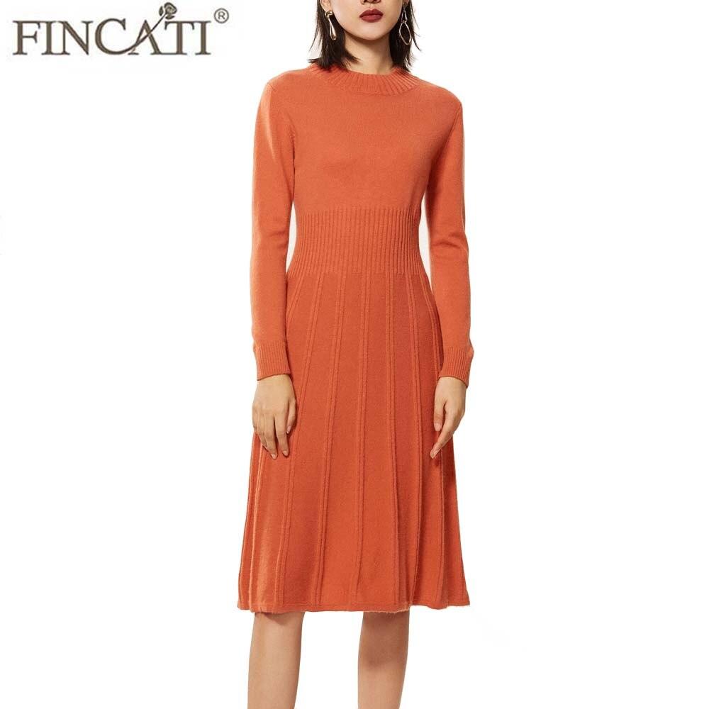 Pull robe femmes 2018 automne hiver angleterre Style haute qualité 100% chèvre cachemire moelleux rayé tricot plissé longues robes