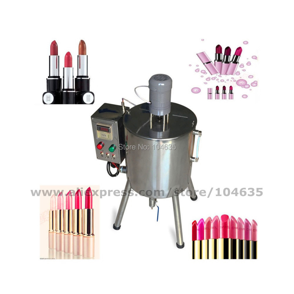 Automatic Lipstick Filler Heat Stirred Tank Candle cream liquid filling Machine 15L zonesun pneumatic a02 new manual filling machine 5 50ml for cream shampoo cosmetic liquid filler