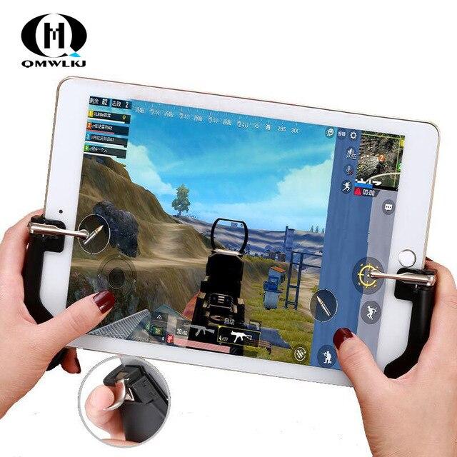 Pubg 모바일 트리거/컨트롤러 화재 버튼 조준 키 모바일 게임 그립 핸들 l1r1 슈터 조이스틱 ipad 태블릿 및 전화 2in1