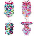 2017 New Arrival 2016 Girls 1Pc Sleeveless 1Color Swimsuit Bathing Swimming Suit Swimwear Swimsuit Beach Surf Clothing Sz3-12Y