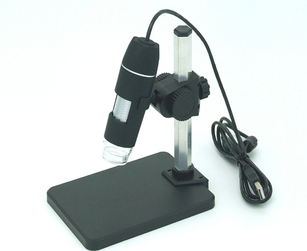 Free Shipping NEW 2MP 8 White LEDs Roll Type USB Telescope Digital Microscope Camera Magnifying Glass Industrial Tool For PCB