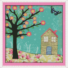 Everlasting love Christmas Yearning for spring (6) Ecological cotton Chinese cross stitch kits  stamped 11 CT New year promotion