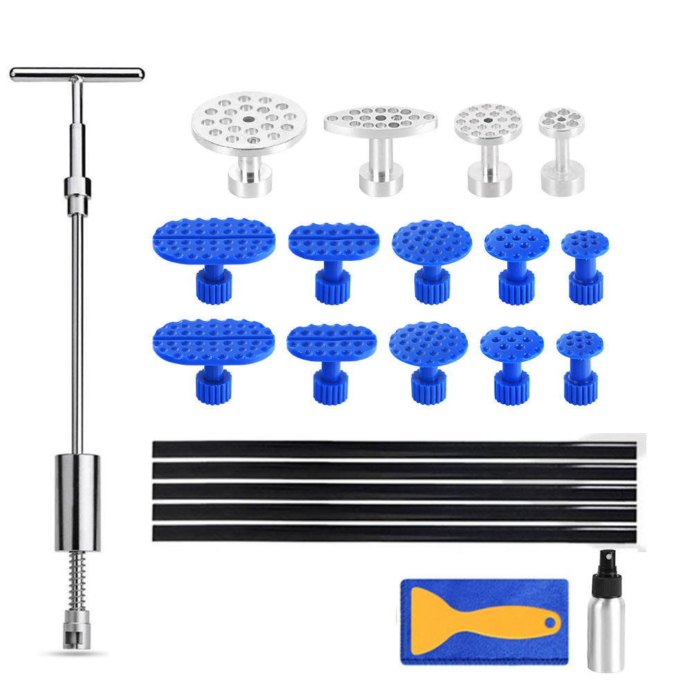 PDR Tools Glue Dent Puller Paintless Removal Tools Kit Car Dent Repair Slide/reverse Hammer Pdr Dent Kit Auto Tools Hand Set
