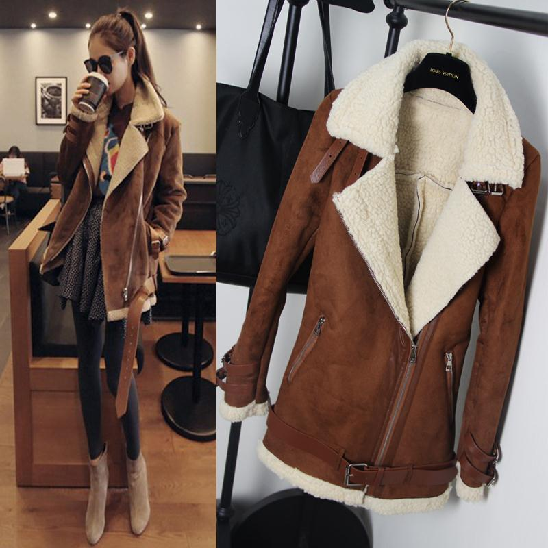 Aliexpress.com : Buy Winter Woman Suede Jackets Long Designer ...