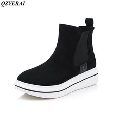 QZYERAI Autumn and winter New arrival fashion new youth women ankle boots casual shoes women of shoes motorcycle boots