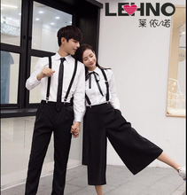 LEHNO Student class suit Korean version of wide-leg pants skirt spring and summer high school uniforms