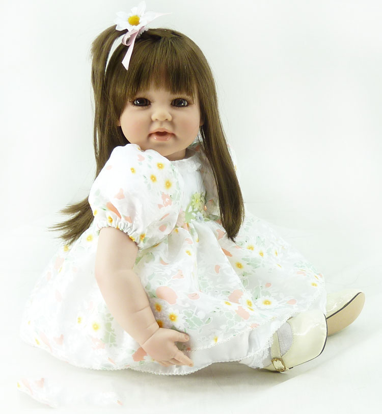 DollMai Dolls reborn 51cm bebe Silicone Reborn Baby Dolls Adorable Girl Toddler princess doll Kids Toys gift
