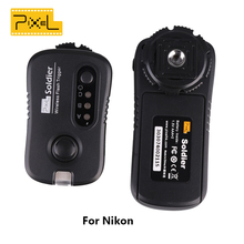 Pixel TF-372 Soldier Wireless Grouping Flash Trigger Flash Remote Shutter For Nikon 1 Transmitter + 1 Receivers