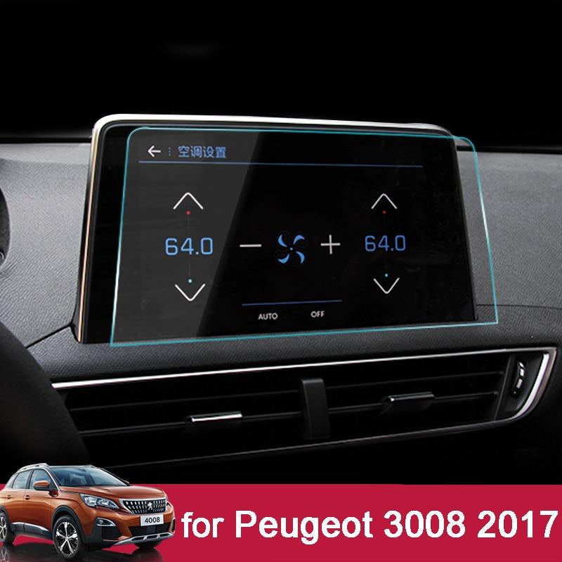 8 pouce Car styling Navigation Trempé Protecteur D'écran En Verre Acier Portective Film POUR PEUGEOT 3008 3008GT 4008 5008 2017 2018