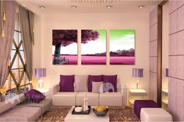 3 piece canvas wall red black living room painting on canvas diy oil ...
