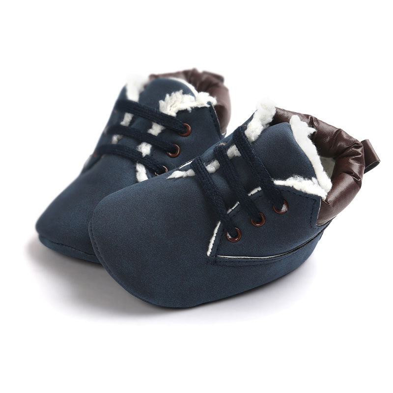 New Infant Classic Baby Shoes Toddler Kids First Walkers Winter Newborn Baby Boy Keep Warm Soft Bottom Anti-slip  Boots