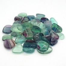 Natural Fluorite Tumbled Stone Gemstone Rock Mineral Crystal Healing Chakra Meditation Feng Shui Decor Collection