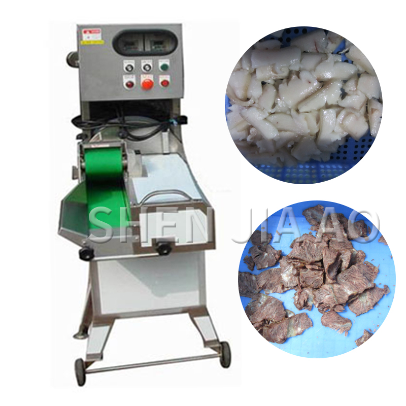 500KG/H Commercial Meat Cutter TM-804 Cooked Meat Slicer Multi-function Pork/pig Scalp/beef/beef Belly Slicing Machine 220v 1PC