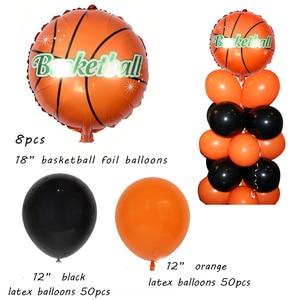 Image 4 - Баскетбольный мяч вечерние принадлежности Оранжевый латексные воздушные шары на день рождения вечерние украшения детский баскетбольный мяч для взрослых арка для воздушных шаров Babyshower для маленьких мальчиков