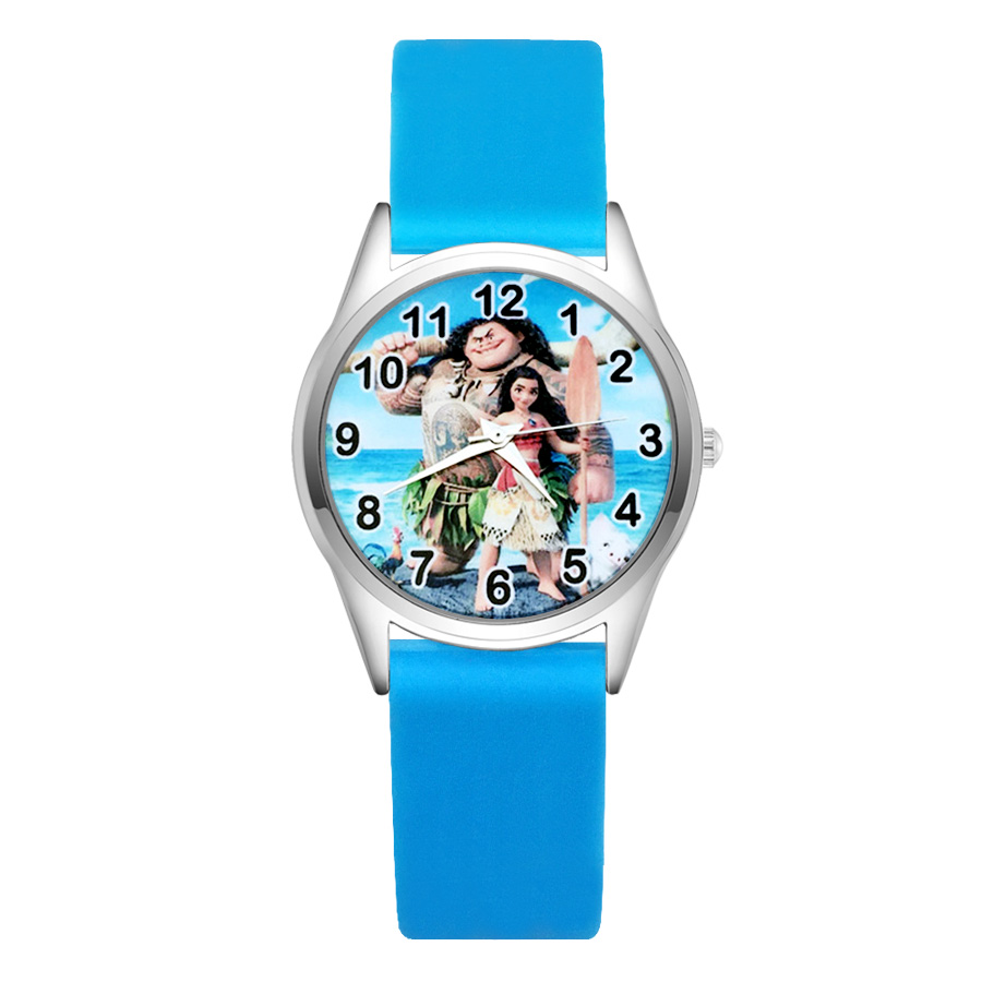 Dedicated Cartoon Cute Pretty Moana Style Childrens Watches Womens Students Girls Boys Quartz Soft Silicone Strap Wrist Watch Jc41 Sophisticated Technologies Watches