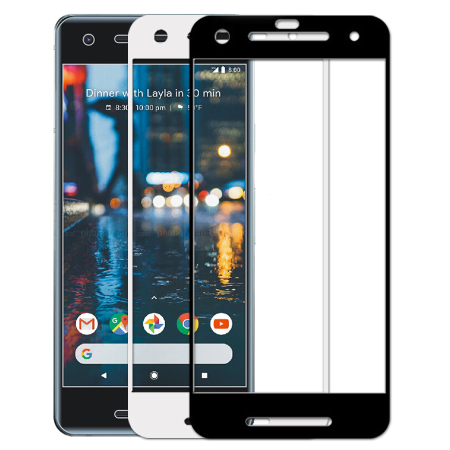 Case For Google Pixel 2 Xl Tempered Glass For Google Pixel 2Xl 9H HD Full Cover Screen Protector Phone Protective Flim Case Capa