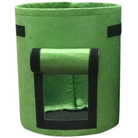 3Pcs Non Woven Nursery Bags Plant Grow Potato Planting Bag Fabric Seedling Pot 30X35Cm Green|Grow Bags| |  -