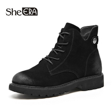 New Fashion Retro Women Boots Genuine Leather Women Ankle Boots Cow Leather Casual Female Shoes Spring/Autumn Lady Shoes She ERA