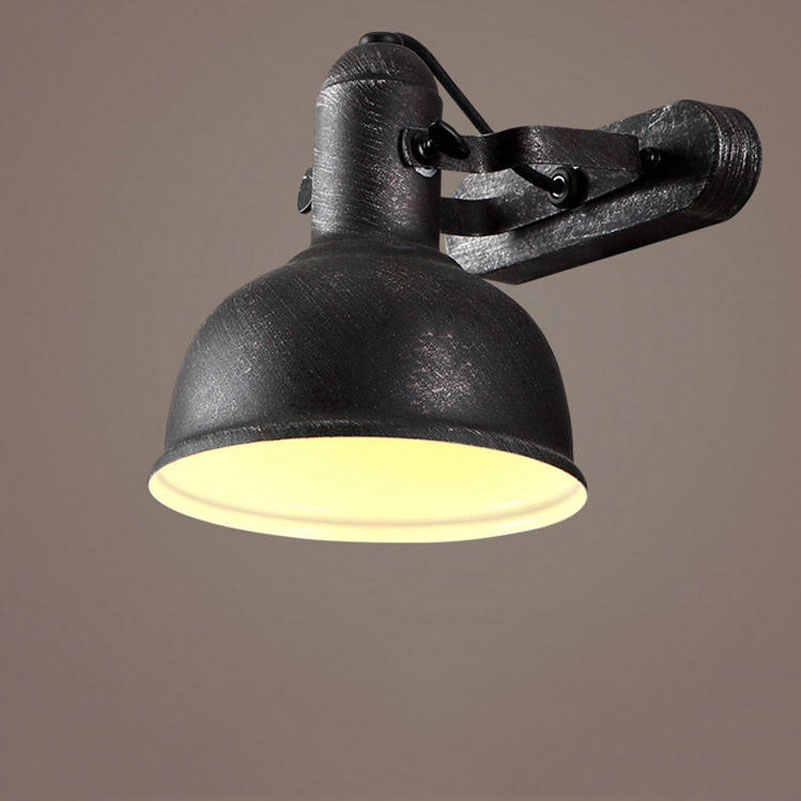 Loft industrial wind Iron retro wall lamp American cafe restaurant study hotel club corridor aisle bedroom living room light