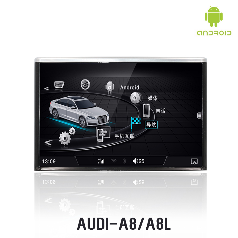 NVTECH 8'' HD Display for Audi A8 Multimedia Navigation Dashboard DVD Player with WIFI & 4G SIM connection 2011 2017