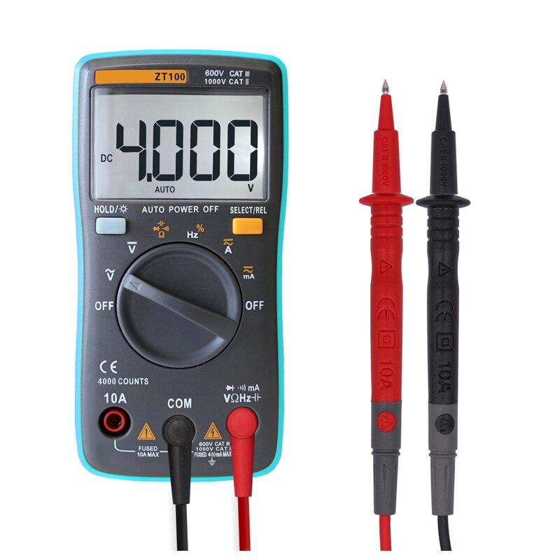 Digital Multimeter Continuity : Zt counts digital multimeter ac dc current voltage