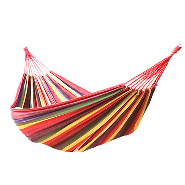 outdoor leisure single person cotton canvas hammocks camping hiking wild survival sleeping rope hanging hammock parachute aliexpress     buy outdoor leisure single person cotton canvas      rh   aliexpress