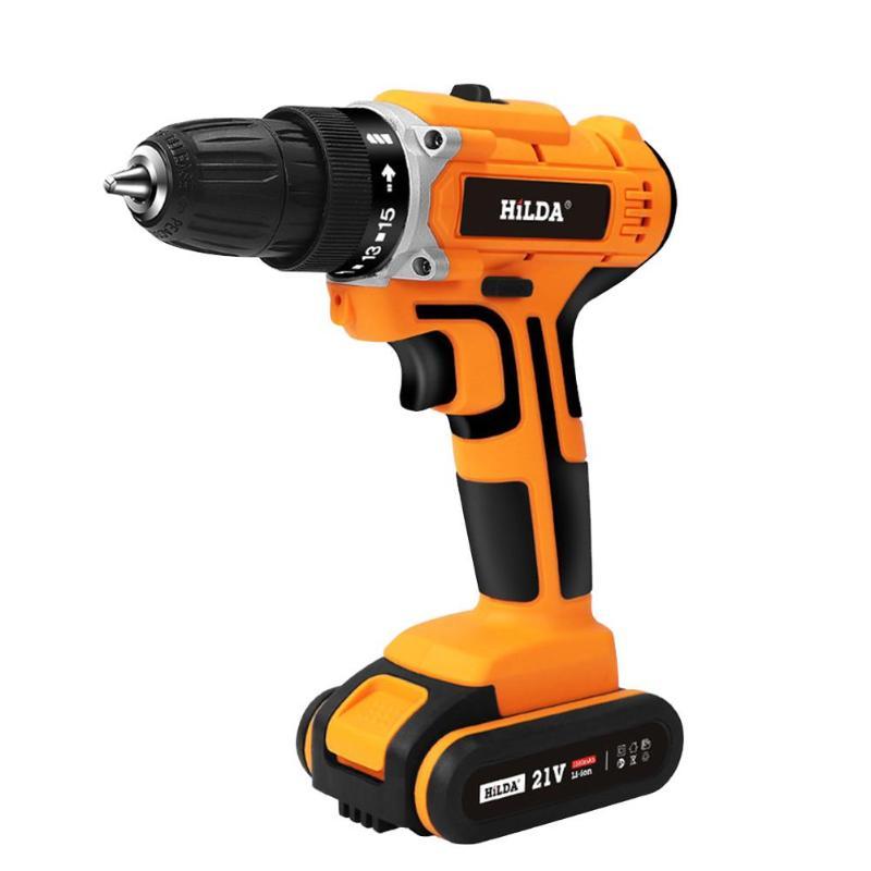HILDA 21V Cordless Electric Screwdriver Mini Hand Drill Power Driver Drill