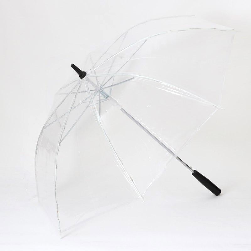 Image 5 - LED Light Transparent Unbrella For Environmental Gift Shining Glowing Umbrellas Party Activity props Long Handle Umbrellas-in Umbrellas from Home & Garden