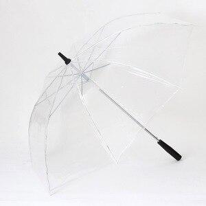 Image 5 - Led ışık şeffaf şemsiye çevre hediye parlayan parlayan şemsiye parti etkinliği sahne uzun saplı şemsiye